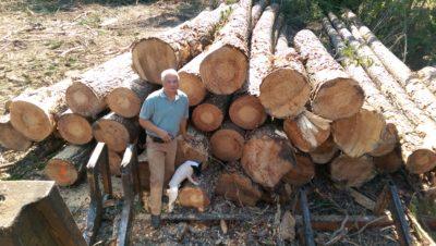 Photo wb log deck and Gene